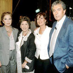 Lina Morgan, Paloma Gómez Borrero, Concha Velasco y Paco Valladares