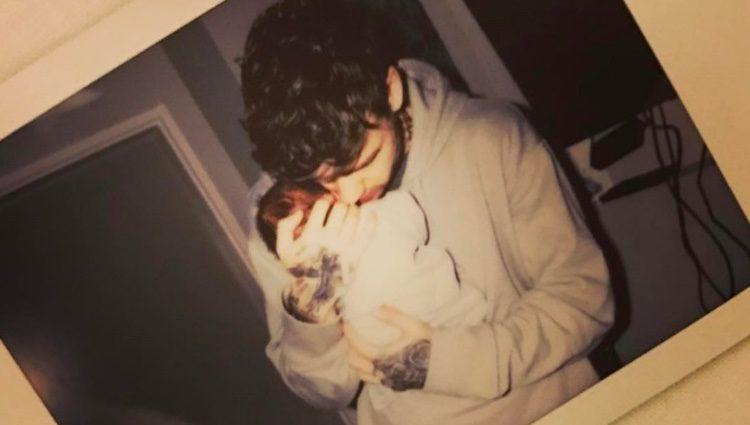 Liam Payne junto a su hijo