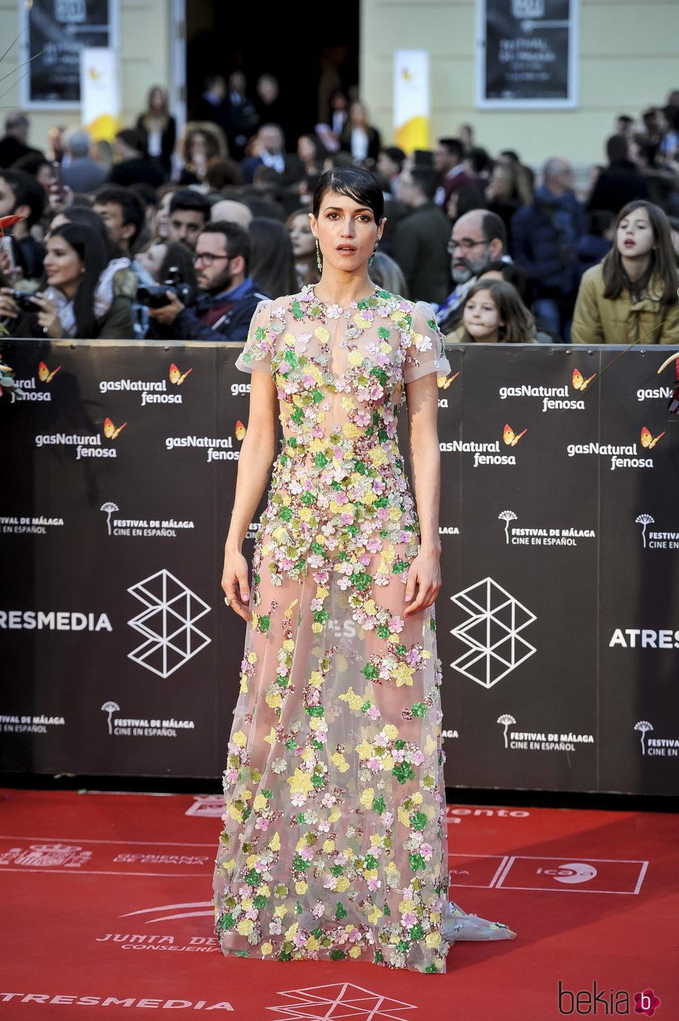 Nerea Barros en la gala de clausura del Festival de Cine de Málaga