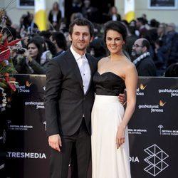Raúl Arévalo y Melina Matthews en la gala de clausura del Festival de Cine de Málaga