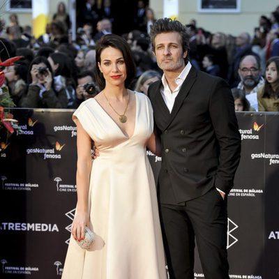 Nerea Garmendia y Jesús Olmedo en la gala de clausura del Festival de Cine de Málaga