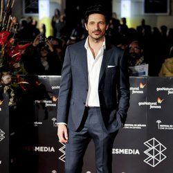 Andrés Velencoso en la gala de clausura del Festival de Cine de Málaga