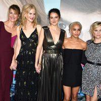 Laura Dern, Nicole Kidman, Shailene Woodley, Zoe Kravitz y Reese Witherspoon