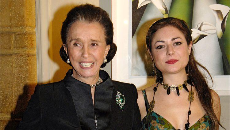 Aline Griffith con su nieta Carla Figueroa Domecq