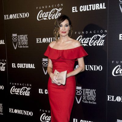 Juncal Rivero en la alfombra roja de los Premios Valle Inclán de Teatro