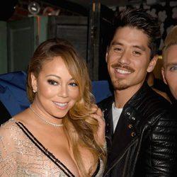 Mariah Carey y Bryan Tanaka en una fiesta