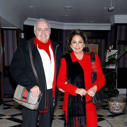 José Luis Moreno e Isabel Pantoja en la presentación del espectáculo 'Así es la vida'