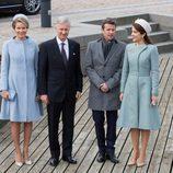 Los Reyes de Bélgica con Federico y Mary de Dinamarca en su Visita de Estado a Dinamarca