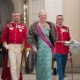 Margarita de Dinamarca en la cena de Estado en honor a los Reyes de Bélgica