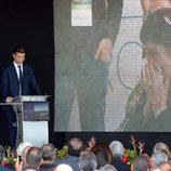 Cristiano Ronaldo en la inauguración de su aeropuerto