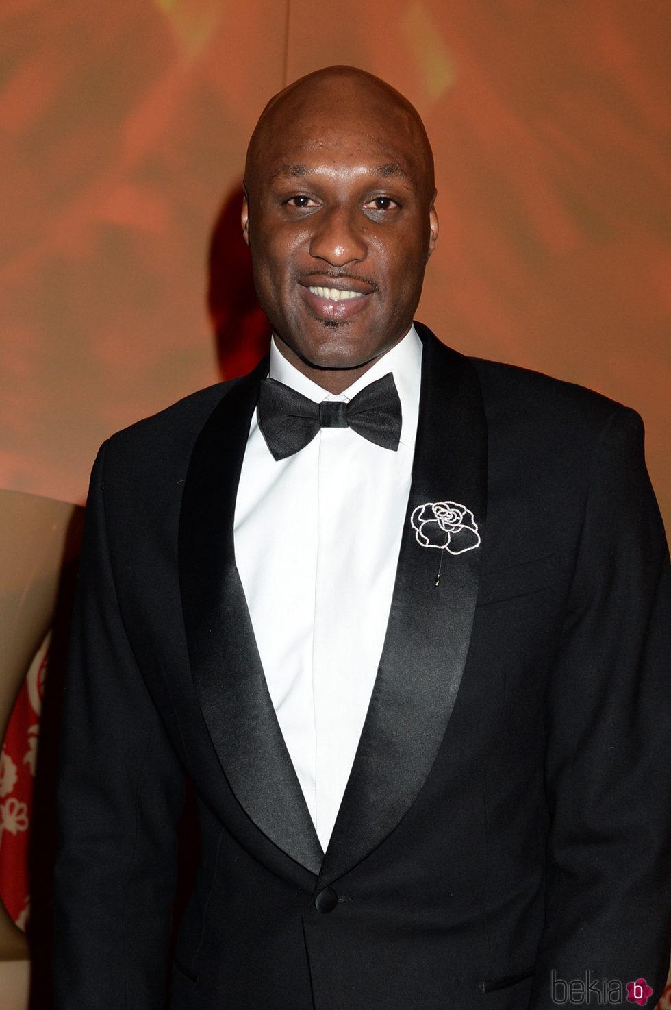 Lamar Odom en la fiesta de los Globos de Oro
