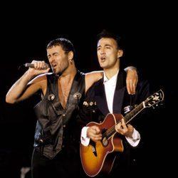 George Michael y Andrew Ridgeley durante una actuación