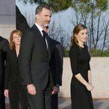 Los Reyes Felipe y Letizia en la capilla ardiente de Alicia de Borbón-Parma