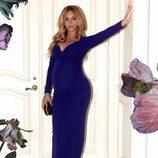 Beyoncé presume de embarazo con un increíble vestido largo