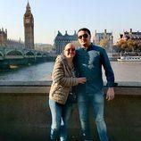 Miguel y Belén Esteban en uno de los lugares más emblemáticos de Londres