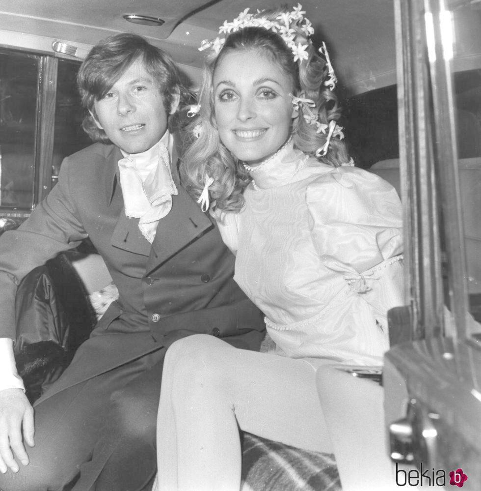 Roman Polanski y Sharon Tate en su boda