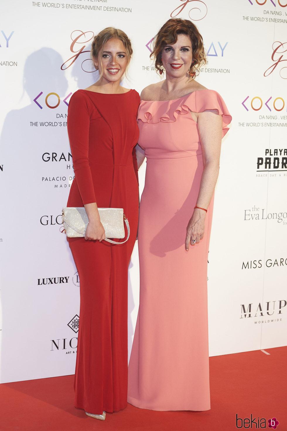 Belinda Washington y su hija Andrea Lázaro en la Global Gift Gala 2017 de Madrid