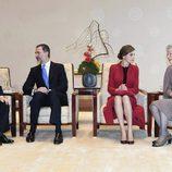 Los Reyes Felipe y Letizia charlan con los Emperadores de Japón en su Viaje de Estado a Japón