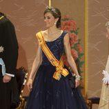 La Reina Letizia en la cena de gala durante su Viaje de Estado a Japón