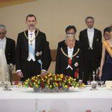 Los Reyes de España y los Emperadores de Japón en una cena de gala durante su Viaje de Estado