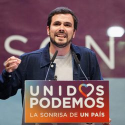 Alberto Garzón en un mitin