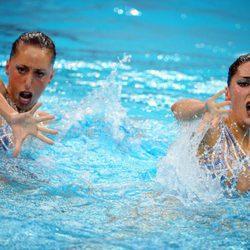 Gemma Mengual y Andrea Fuentes en los Juegos Olímpicos de Pekín 2008