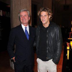 Diego Forlán en la Fundación Umberto Veronesi en Milán