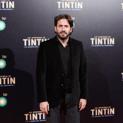 Antonio Garrido en en estreno de 'Las aventuras de Tintín: el secreto del unicornio' en Madrid