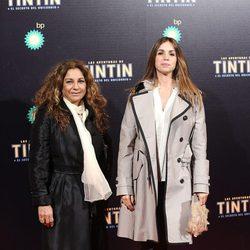 Lolita Flores y Elena Furiase en el estreno de 'Las aventuras de Tintín: el secreto del unicornio' en Madrid