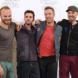 Coldplay en la presentación de su gira 'Mylo Xyloto' en Madrid