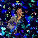 Chris Martin cantando en el concierto de Coldplay en Madrid