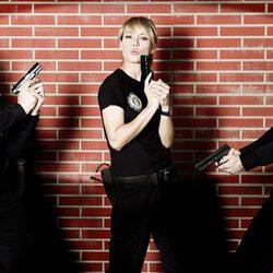 Adrián Lastra, Patricia Conde y Antonio Molero en 'BuenAgente'