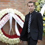 Jorge Lorenzo en el funeral de Marco Simoncelli