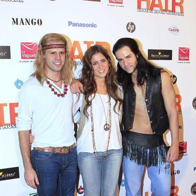 Lucía Jiménez en el estreno del musical 'Hair' en Madrid