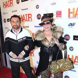José Manuel Parada y Marujita Díaz en el estreno del musical 'Hair' en Madrid