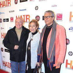 Raúl Sénder y Paco Valladares en el estreno del musical 'Hair' en Madrid