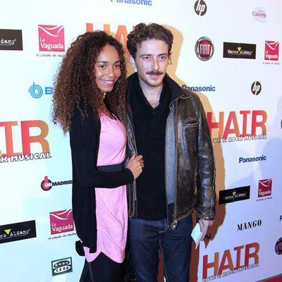 Víctor Clavijo en el estreno del musical 'Hair' en Madrid
