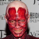 La cara de Heidi Klum con su disfraz Halloween 2011