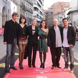 Leticia Dolera, Luisa Gavasa, Paula Ortiz y Fran Perea en la clausura de la Seminci 2011