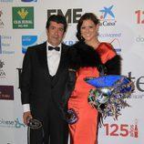 María Jesús Ruiz y su novio en los Premios Escaparate 2011