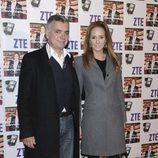 Juan Ramón Lucas y Sandra Ibarra en el concierto de David Bisbal en Madrid