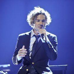 David Bisbal cantando en el concierto que ofreció en Madrid