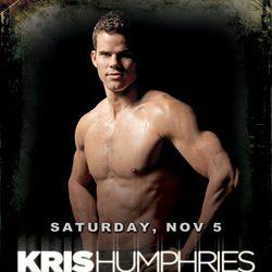 Kris Humphries desnudo para un evento en Las Vegas