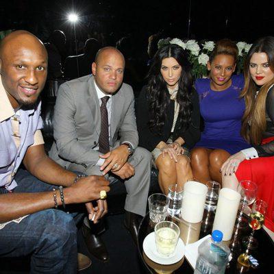 Mel B y Stephen Belafonte junto a Khloe y Kim Kardashian en Sidney