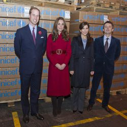 Los Duques de Cambridge y los Príncipes de Dinamarca en UNICEF