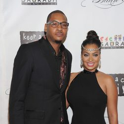 Carmelo Anthony y LaLa Anthony en la Gala Solidaria Black Ball