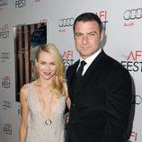 Naomi Watts y Liev Schreiber en la premiere de 'J. Edgar' en Los Angeles