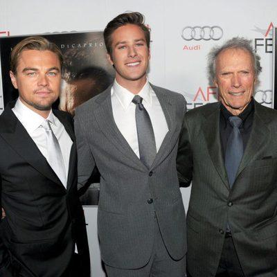 Leonardo DiCaprio, Armie Hammer y Clint Eastwood en la premiere de 'J. Edgar' en Los Angeles
