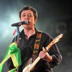 Manolo García durante un concierto