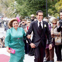 Alberto Contador y su madre Francisca Velasco
